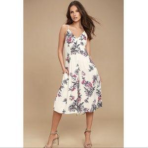NWT Somedays Lovin floral midi jumpsuit